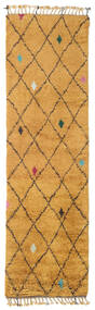 Alta - Gold Rug 80X300 Authentic  Modern Handknotted Hallway Runner  Light Brown/Orange (Wool, India)