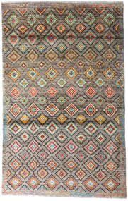 Moroccan Berber - Afghanistan Rug 117X187 Authentic  Modern Handknotted Light Grey/Light Brown (Wool, Afghanistan)