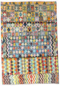 Moroccan Berber - Afghanistan Rug 119X174 Authentic  Modern Handknotted Beige/Dark Grey (Wool, Afghanistan)