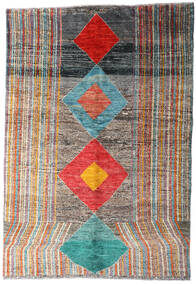 Moroccan Berber - Afghanistan Rug 149X216 Authentic  Modern Handknotted Dark Grey/Light Grey (Wool, Afghanistan)