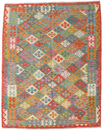 Kilim Afghan Old Style Rug 152X193 Authentic  Oriental Handwoven Light Grey/Crimson Red (Wool, Afghanistan)