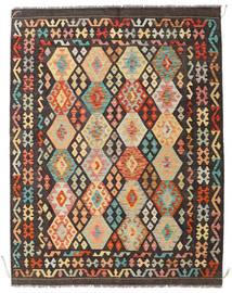 Kilim Afghan Old Style Rug 146X190 Authentic  Oriental Handwoven Dark Brown/Dark Beige (Wool, Afghanistan)