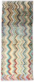 Moroccan Berber - Afghanistan Rug 73X187 Authentic  Modern Handknotted Hallway Runner  Beige/Dark Grey (Wool, Afghanistan)