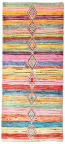 Moroccan Berber - Afghanistan Rug 84X194 Authentic  Modern Handknotted Hallway Runner  Light Pink/Beige (Wool, Afghanistan)