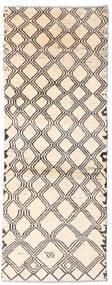 Moroccan Berber - Afghanistan Rug 73X192 Authentic  Modern Handknotted Hallway Runner  Beige/Light Grey (Wool, Afghanistan)