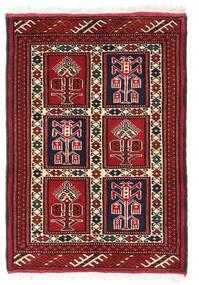 Turkaman Rug 61X86 Authentic  Oriental Handknotted Dark Red/White/Creme (Wool, Persia/Iran)