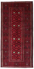Baluch Rug 129X262 Authentic  Oriental Handknotted Hallway Runner  Dark Red/Dark Brown (Wool, Persia/Iran)