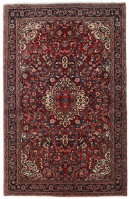 Jozan Rug 138X215 Authentic  Oriental Handknotted Dark Red/Black (Wool, Persia/Iran)