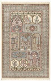 Ilam Sherkat Farsh Silk Rug 148X223 Authentic  Oriental Handknotted Light Grey/Beige (Wool/Silk, Persia/Iran)