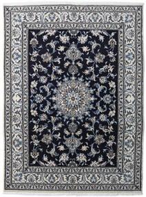 Nain Rug 147X198 Authentic  Oriental Handknotted Light Grey/Black/Dark Grey (Wool, Persia/Iran)