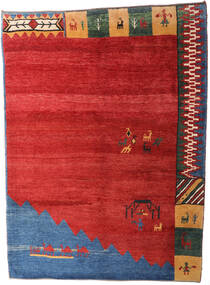Gabbeh Rustic Rug 229X310 Authentic  Modern Handknotted Rust Red/Blue (Wool, Persia/Iran)