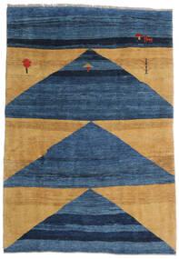 Gabbeh Rustic Rug 193X282 Authentic  Modern Handknotted Dark Blue/Blue/Beige (Wool, Persia/Iran)