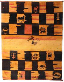 Gabbeh Rustic Rug 217X287 Authentic  Modern Handknotted Dark Brown/Orange (Wool, Persia/Iran)