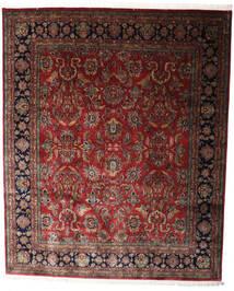Keshan Indo Rug 247X298 Authentic  Oriental Handknotted Dark Red/Dark Brown (Wool, India)