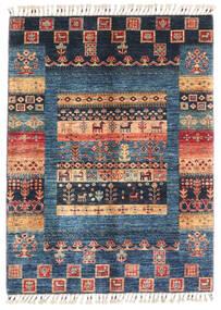 Modern Afghan Rug 86X119 Authentic  Modern Handknotted Dark Blue/Dark Beige (Wool, Afghanistan)