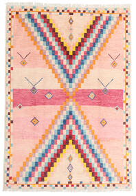 Moroccan Berber - Afghanistan Rug 170X247 Authentic  Modern Handknotted Light Pink/Beige (Wool, Afghanistan)