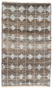 Moroccan Berber - Afghanistan Rug 115X188 Authentic  Modern Handknotted Light Grey/Dark Grey (Wool, Afghanistan)