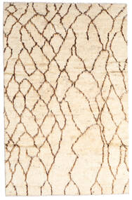 Moroccan Berber - Afghanistan Rug 187X294 Authentic  Modern Handknotted Beige/Light Pink (Wool, Afghanistan)