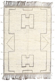 Moroccan Berber Style Rug 200X288 Authentic  Modern Handknotted Beige/Light Grey (Wool, Afghanistan)