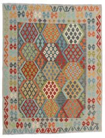 Kilim Afghan Old Style Rug 152X197 Authentic  Oriental Handwoven Light Grey/Turquoise Blue (Wool, Afghanistan)