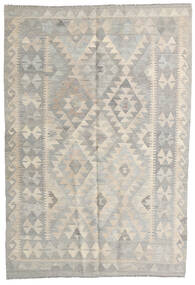 Kilim Afghan Old Style Rug 122X180 Authentic  Oriental Handwoven Light Grey (Wool, Afghanistan)