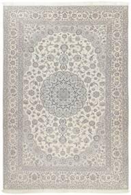 Nain 6La Rug 241X340 Authentic  Oriental Handknotted Light Grey/Dark Beige (Wool/Silk, Persia/Iran)
