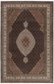 Tabriz Royal Rug 196X290 Authentic  Oriental Handknotted Dark Brown/Brown ( India)