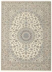 Nain 6La Rug 258X350 Authentic  Oriental Handknotted Light Grey/Beige Large (Wool/Silk, Persia/Iran)