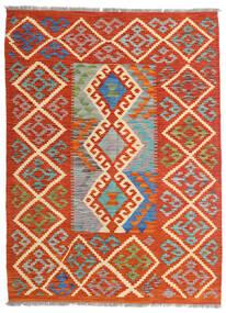 Kilim Afghan Old Style Rug 126X172 Authentic  Oriental Handwoven Rust Red/Beige (Wool, Afghanistan)