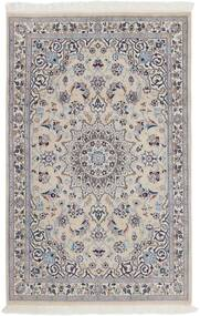 Nain 9La Rug 116X180 Authentic  Oriental Handknotted Light Grey/Dark Brown (Wool/Silk, Persia/Iran)