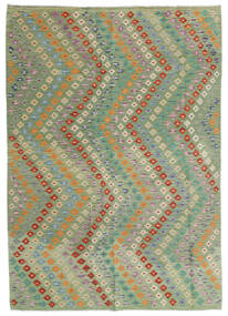 Kilim Afghan Old Style Rug 176X248 Authentic  Oriental Handwoven Light Green/Light Grey (Wool, Afghanistan)