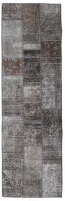 Patchwork - Persien/Iran Rug 76X253 Authentic  Modern Handknotted Hallway Runner  Dark Grey/Dark Brown/Brown (Wool, Persia/Iran)