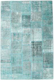 Patchwork - Persien/Iran Rug 205X303 Authentic  Modern Handknotted Light Blue/Pastel Green/Turquoise Blue (Wool, Persia/Iran)