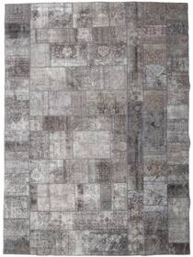 Patchwork - Persien/Iran Rug 252X352 Authentic  Modern Handknotted Light Grey/Dark Grey/Dark Brown Large (Wool, Persia/Iran)