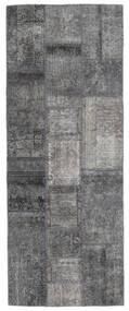 Patchwork - Persien/Iran Rug 76X200 Authentic  Modern Handknotted Hallway Runner  Light Grey/Dark Brown/Dark Grey (Wool, Persia/Iran)