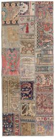 Patchwork - Persien/Iran Rug 77X201 Authentic  Modern Handknotted Hallway Runner  Light Grey/Brown (Wool, Persia/Iran)