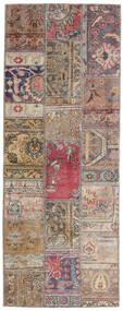 Patchwork - Persien/Iran Rug 76X200 Authentic  Modern Handknotted Hallway Runner  Light Grey/Light Brown (Wool, Persia/Iran)