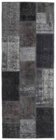 Patchwork - Persien/Iran Rug 77X202 Authentic  Modern Handknotted Hallway Runner  Dark Grey/Light Grey (Wool, Persia/Iran)