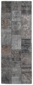Patchwork - Persien/Iran Rug 75X201 Authentic  Modern Handknotted Hallway Runner  Dark Grey/Light Grey (Wool, Persia/Iran)