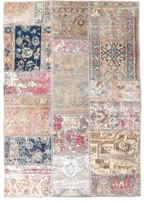 Patchwork - Persien/Iran Rug 107X153 Authentic  Modern Handknotted Light Grey/Light Pink (Wool, Persia/Iran)