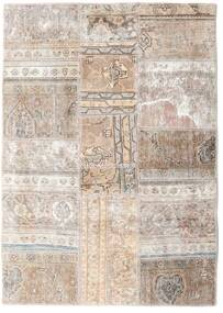 Patchwork - Persien/Iran Rug 109X155 Authentic  Modern Handknotted Light Grey/White/Creme (Wool, Persia/Iran)