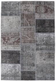 Patchwork - Persien/Iran Rug 107X157 Authentic  Modern Handknotted Light Grey/Dark Grey (Wool, Persia/Iran)