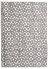 Bamboo Silk Kilim Rug 250X350 Authentic  Modern Handwoven Light Grey Large (Wool/Bamboo Silk, India)