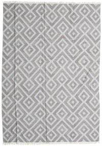 Bamboo Silk Kilim Rug 250X350 Authentic  Modern Handwoven Light Grey/White/Creme Large (Wool/Bamboo Silk, India)