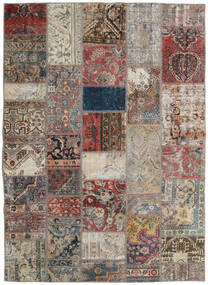 Patchwork - Persien/Iran Rug 172X240 Authentic  Modern Handknotted Light Grey/Light Brown (Wool, Persia/Iran)