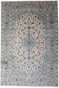 Keshan Rug 246X366 Authentic  Oriental Handknotted Light Grey/Dark Grey (Wool, Persia/Iran)