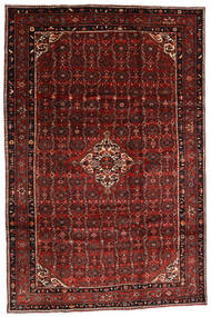 Hosseinabad Rug 200X300 Authentic  Oriental Handknotted Dark Red (Wool, Persia/Iran)