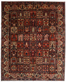 Bakhtiari Rug 317X392 Authentic  Oriental Handknotted Dark Brown/Dark Red Large (Wool, Persia/Iran)