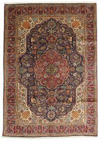 Tabriz Rug 200X280 Authentic  Oriental Handknotted Dark Brown/Light Brown (Wool, Persia/Iran)
