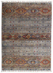 Shabargan Rug 102X146 Authentic  Modern Handknotted Light Grey/Dark Grey (Wool, Afghanistan)